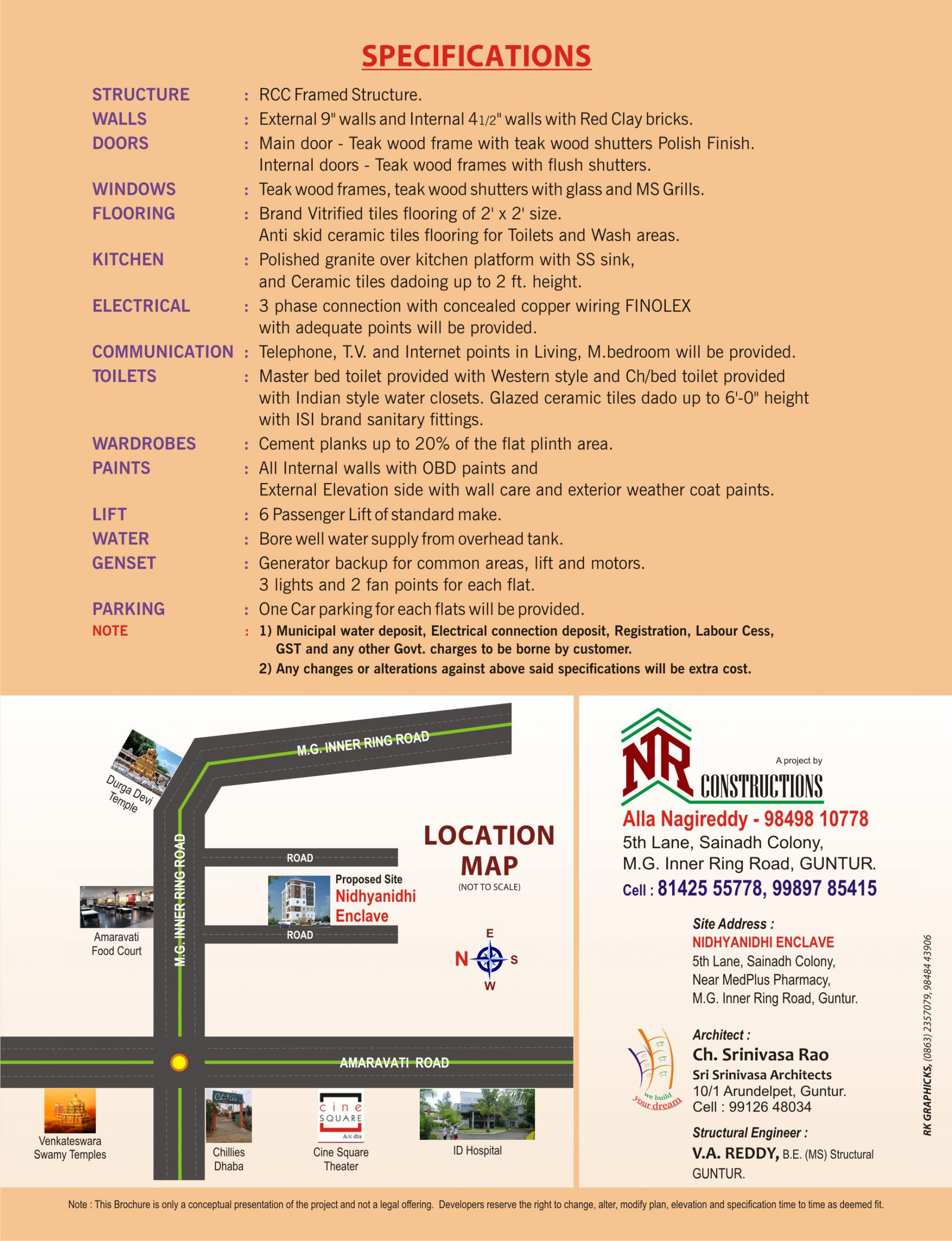 Nidhyanidhi Enclave Specifications